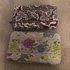 Two Vera Bradley Wallet Set